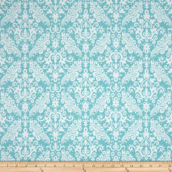 Riley Blake Medium Damask Aqua Fabric