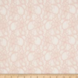 Telio Xanna Floral Lace Light Soft Rose Fabric