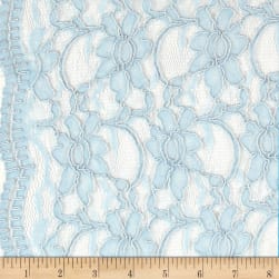 Telio Xanna Floral Lace Soft Blue Fabric