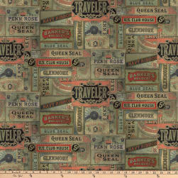 Tim Holtz Foundations Cigarbox Multi Fabric