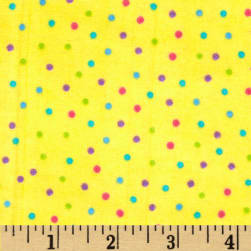 Flannel Dots Multi/Yellow Fabric