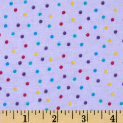 Flannel Dots Purple Fabric