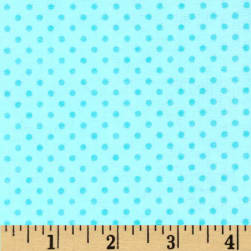 Flannel Dots Turquoise Fabric