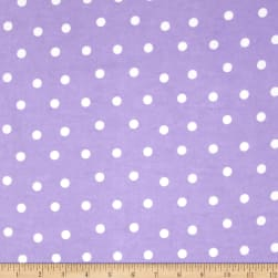 Flannel Dots Purple/White Fabric