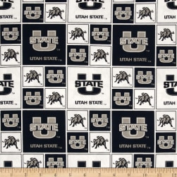 Collegiate Cotton Broadcloth Utah State University Allover Fabric