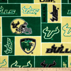 Collegiate Fleece University of South Florida Allover Fabric