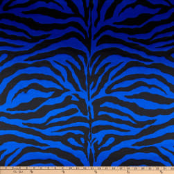 Charmeuse Satin Zebra Royal Fabric