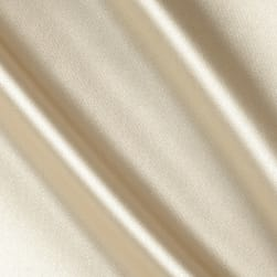 Stretch Charmeuse Satin Champagne Fabric