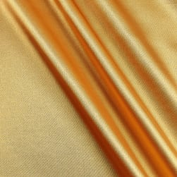 Stretch Charmeuse Satin Sungold Fabric