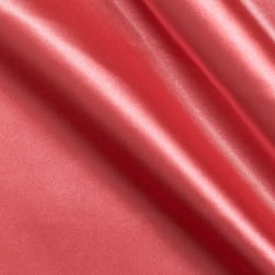 Stretch Charmeuse Satin Coral Pink Fabric