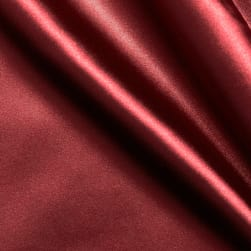 Stretch Charmeuse Satin Cranberry
