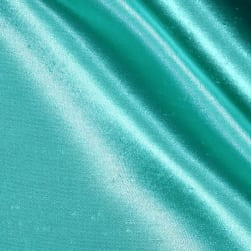 Shantung Sateen Jade Blue Fabric