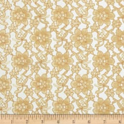 Raschelle Lace Gold Fabric