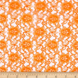Raschelle Lace Orange Fabric