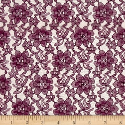 Raschelle Lace Plum Fabric