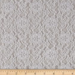 Raschelle Lace Silver Fabric