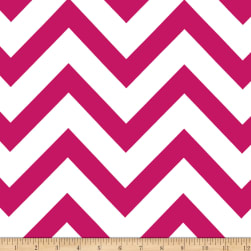 Mi Amor Duchess Satin Chevron Fuchsia/White
