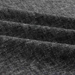 Kaufman Brussels Washer Linen Blend Yarn Dye Black Fabric