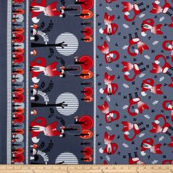 Kanvas Feeling Foxy Double Border Grey Fabric