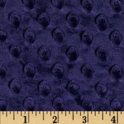 Shannon Minky Cuddle Dimple Indigo Fabric
