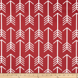 Premier Prints Arrow Macon Timberwolf Red Fabric