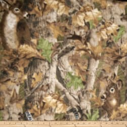 Realtree Deer Camo Print Fleece Fabric