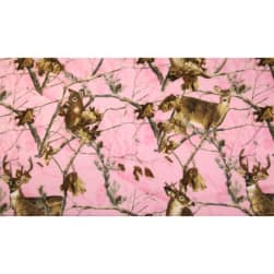 Realtree Deer Allover Print Fleece Pink Fabric