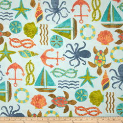 Swavelle/Mill Creek Indoor/Outdoor SeaPoint Blue Summer Fabric