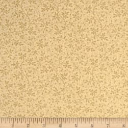 "108"" Wide Tonal Mini Branches Quilt Back Tan"