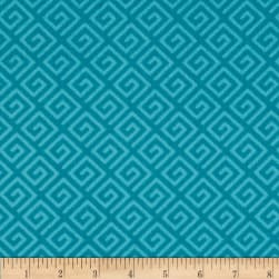 "108"" Wide Quilt Back Greek Key Teal"