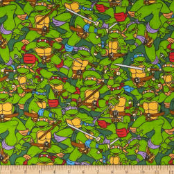 Teenage Mutant Ninja Turtles Flannel Heroes on the Half Shell Green