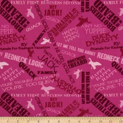 Duck Dynasty Sayings Pink