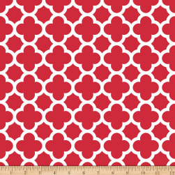 Riley Blake Medium Quatrefoil Red