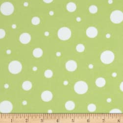 Cozy Cotton Flannel Dots Pistachio Fabric