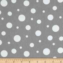 Cozy Cotton Flannel Dots Grey