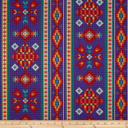 Tucson Beaded Stripe Purple Fabric