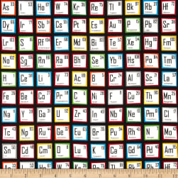 Science Fair Periodic Table Multi Fabric