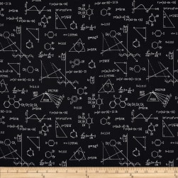 Science Fair Formulas Black Fabric