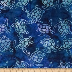 Michael Miller Batik Sea Turtles Blue Fabric