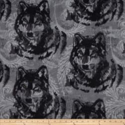 Winterfleece Wolf Grey/Black Fabric
