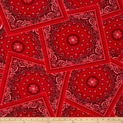 Winterfleece Bandana Red Fabric