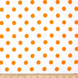 Cotton Jersey Knit Polka Dots Orange