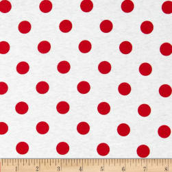 Fabric Merchants Cotton Jersey Knit Polka Dots Dark