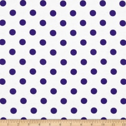 Fabric Merchants Cotton Jersey Knit Polka Dots Purple