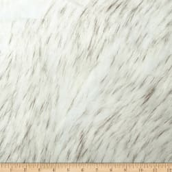 Shannon Faux Fur Norwegian Husky Fur Off-White/Black Fabric