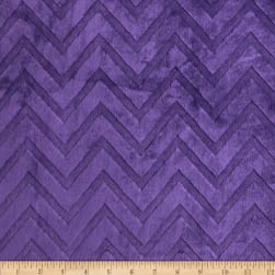 Shannon Minky Cuddle Embossed Chevron Amethyst Fabric