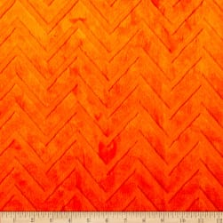 Shannon Minky Embossed Chevron Cuddle Orange Fabric