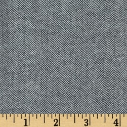 Kaufman Shetland Flannel Herringbone Grey Fabric