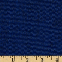 Kaufman Shetland Flannel Herringbone Navy Fabric