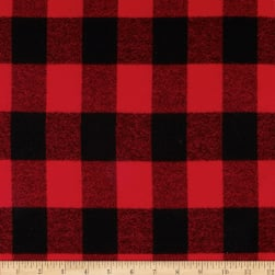 Kaufman Mammoth Flannel Buffalo Plaid Red Fabric